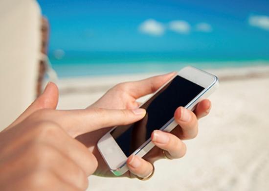 sử dụng smartphone tời tiết nắng nóng