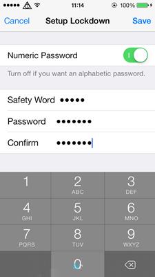 Nhập mật khẩu bảo mật