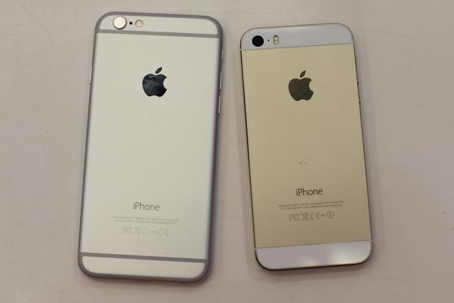 iPhone 6 và iPhone 5s đọ dáng