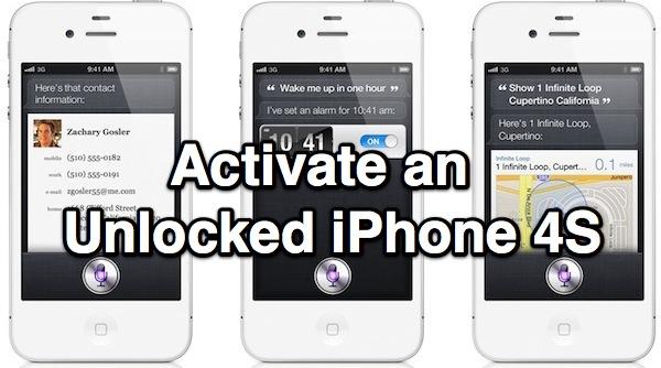 Cách active iphone 4s không cần sim nhà mạng