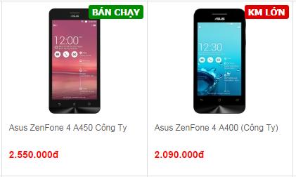 Giá Asus Zenfone 4 2 phiên bản