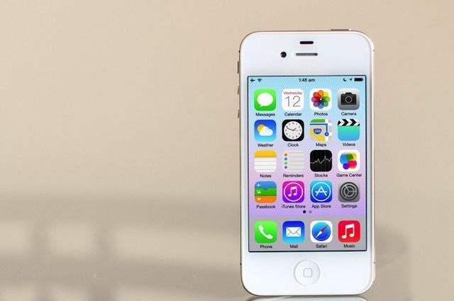 Hệ điều hành iOS 8 trên iPhone 4s