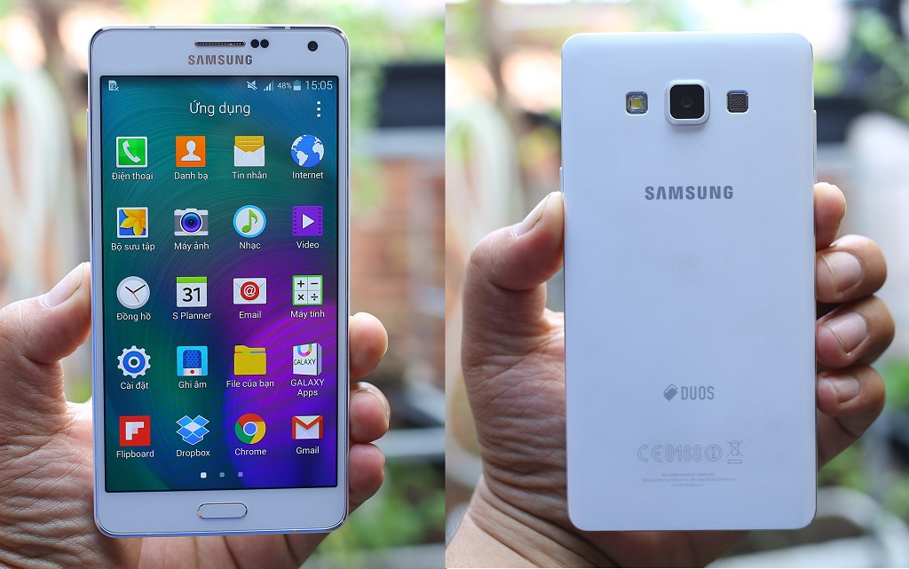 Màn hình 5.5 inch của Samsung Galaxy A7